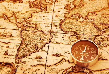 carte et boussole savoir où aller mais avec quelqu'un